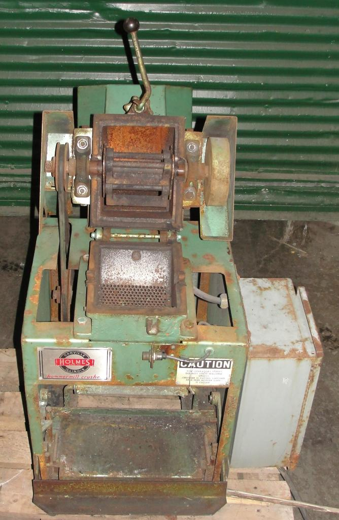 Mill 2 hp Holmes hammer mill model 201XL Crusher, 6 x 3.5 throat size5