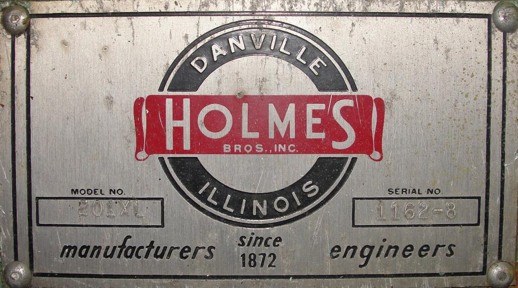 Mill 2 hp Holmes hammer mill model 201XL Crusher, 6 x 3.5 throat size7