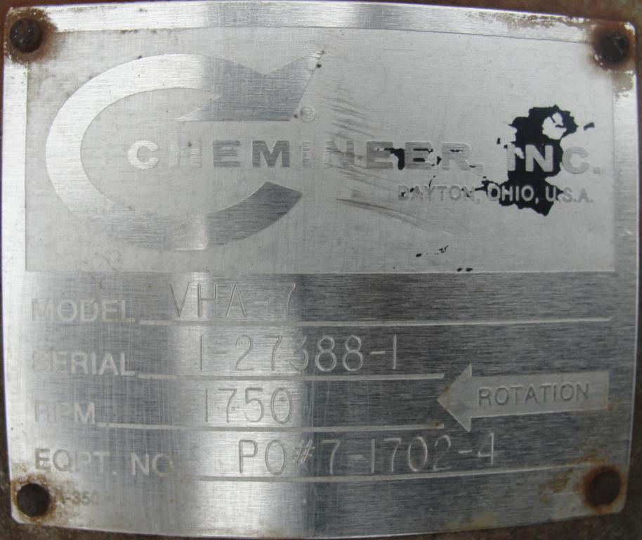 Tank 250 gallon vertical tank, Stainless Steel, 25 psi @ 350° F internal, 125 psi @ 350° F half jacket, .75 hp agitator, conical bottom7