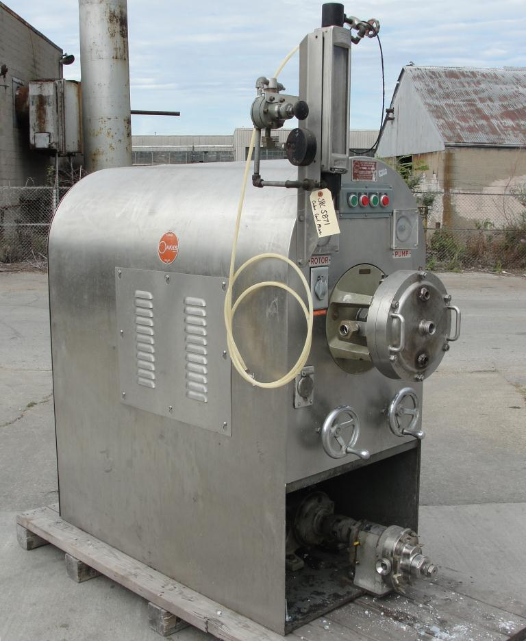 Mixer and Blender E. T. Oakes Corp continuous mixer model 10M5, 5 hp, Stainless Steel