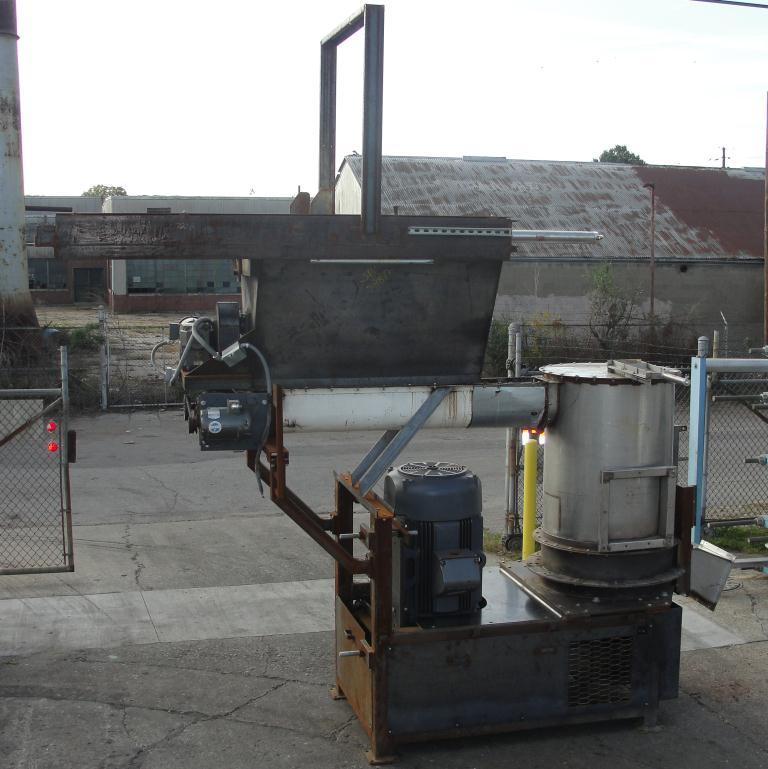 Granulator 200 hp densifier 24 cu ft chamber 1 rotating blade1