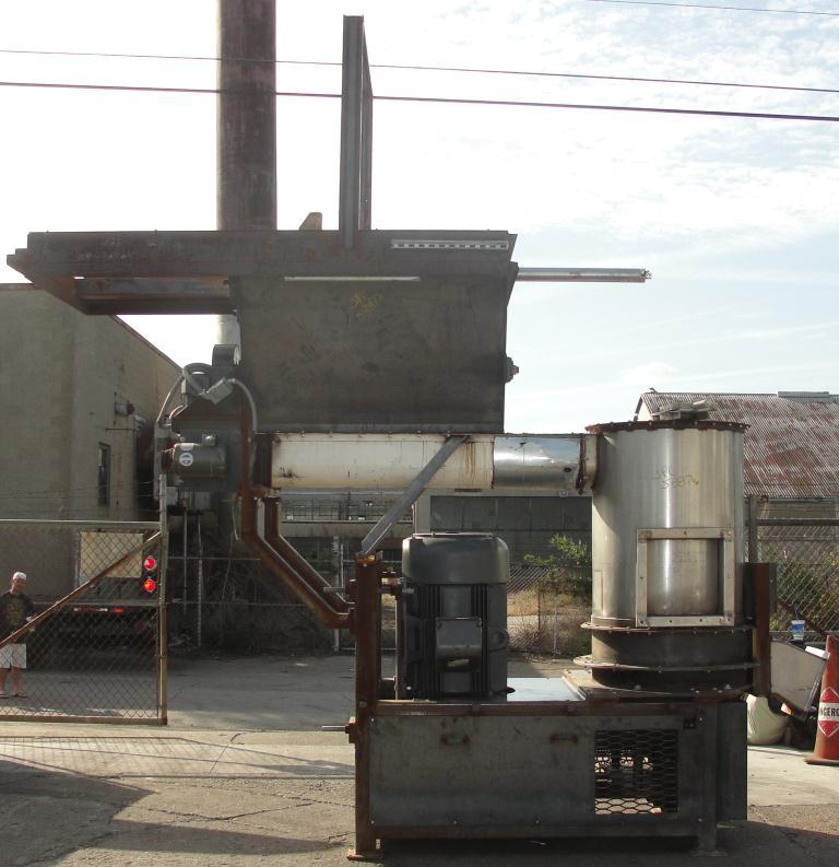 Granulator 200 hp densifier 24 cu ft chamber 1 rotating blade4