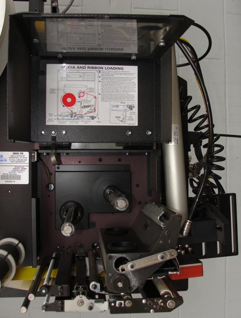 Labeler PCM Image-Tek pressure sensitive labeler model Online 9000 Series, tamp-on, 600 per min5