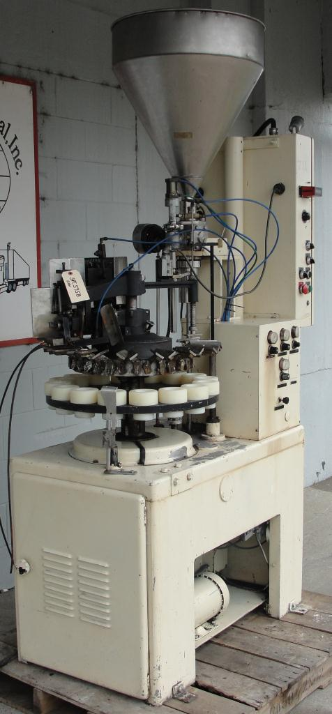 Filler single piston filling heads MRM Elgin tube filler model E2