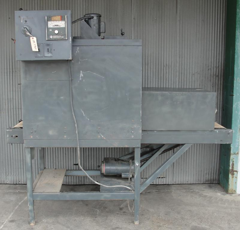 Shrink Tunnel Shanklin Corp electric shrink tunnel model HY-Velair T-7P, 22 wide x 9 tall work opening2