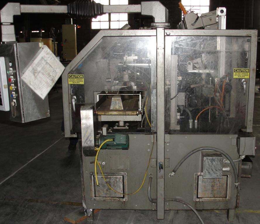 Form Fill and Seal KHS Klockner Bartelt horizontal form fill seal model RPM, up to 8 wide x 14 tall pouches, zipper applicator 75 ppm4