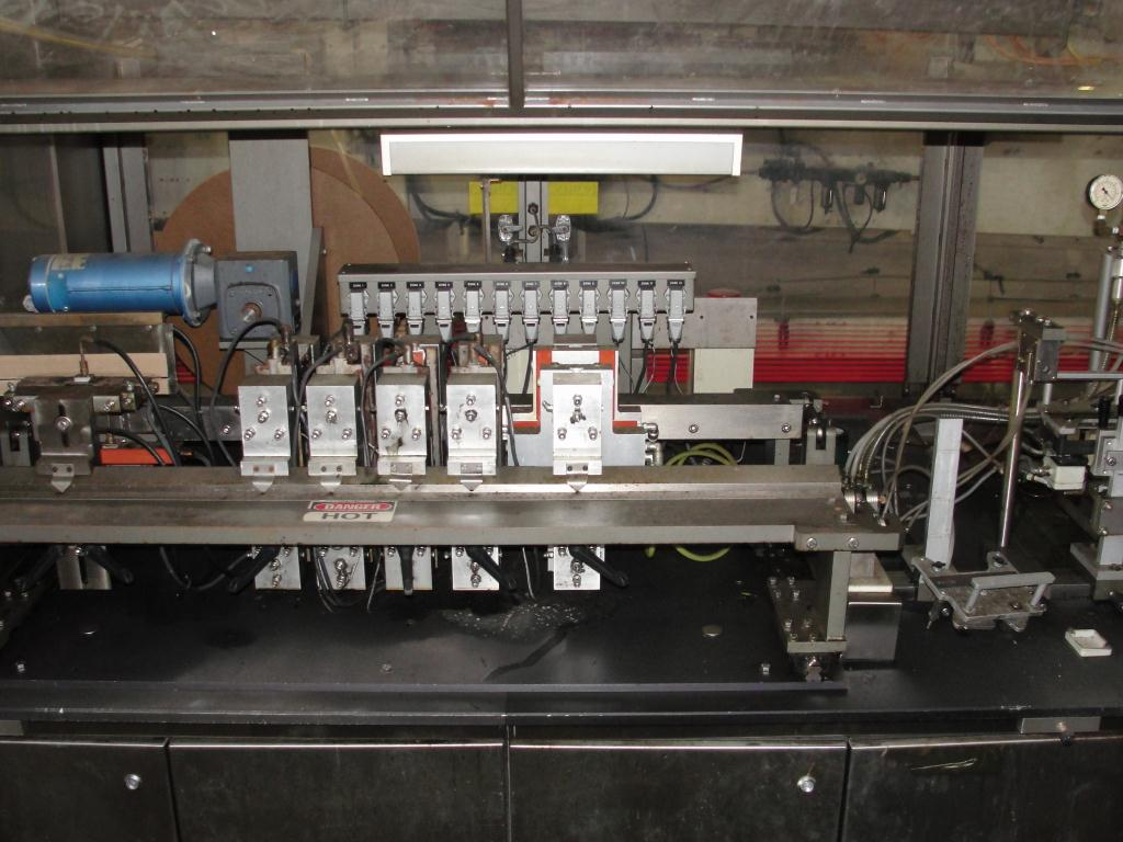 Form Fill and Seal KHS Klockner Bartelt horizontal form fill seal model RPM, up to 8 wide x 14 tall pouches, zipper applicator 75 ppm9