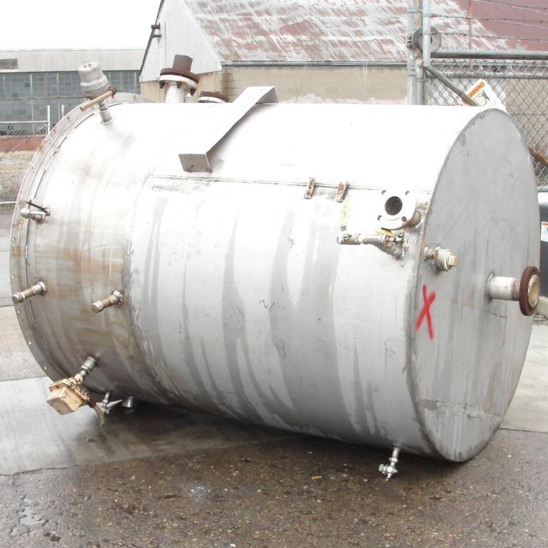 Tank 700 gallon vertical tank, Stainless Steel, flat bottom4