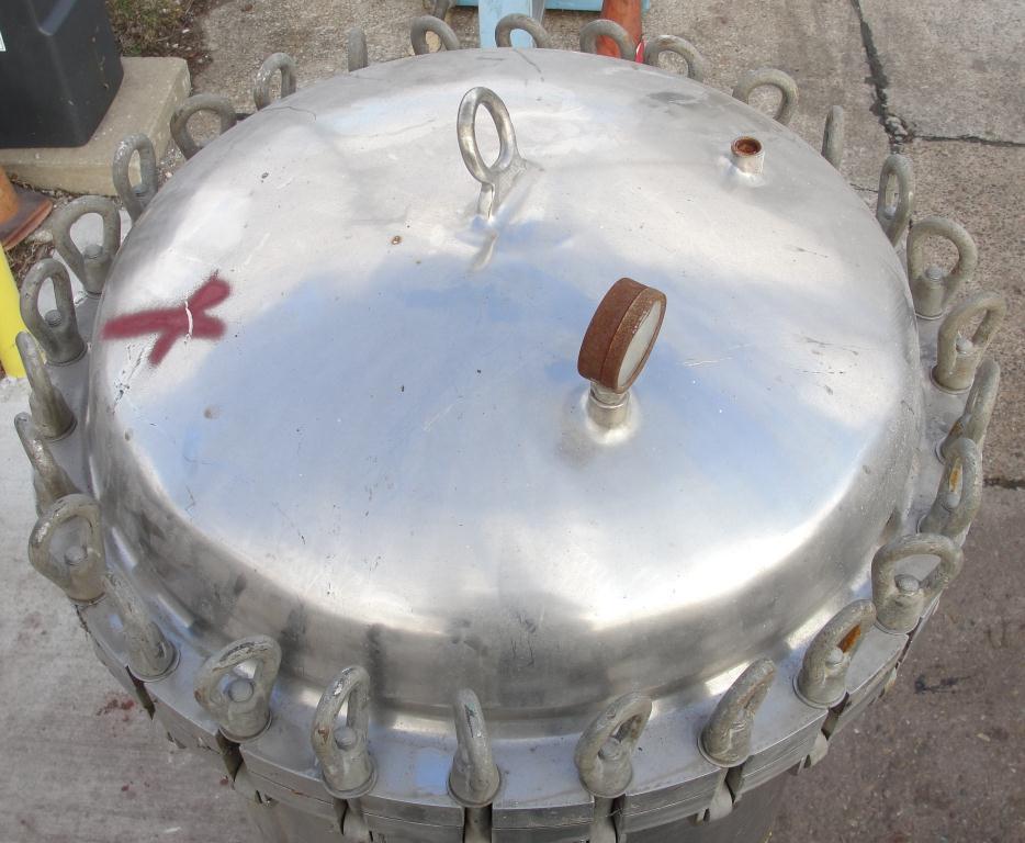 Filtration Equipment 110 gallon Brighton basket strainer (single), Stainless Steel3