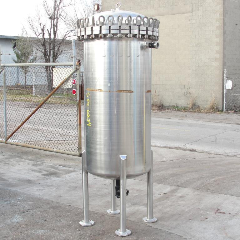 Filtration Equipment 110 gallon Brighton basket strainer (single), Stainless Steel5