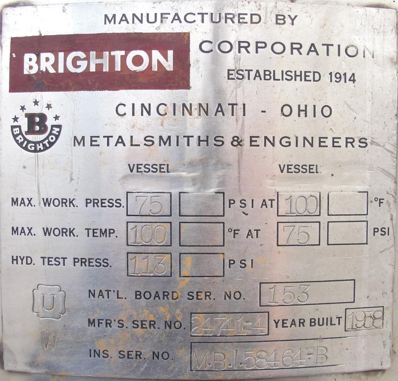 Filtration Equipment 110 gallon Brighton basket strainer (single), Stainless Steel6