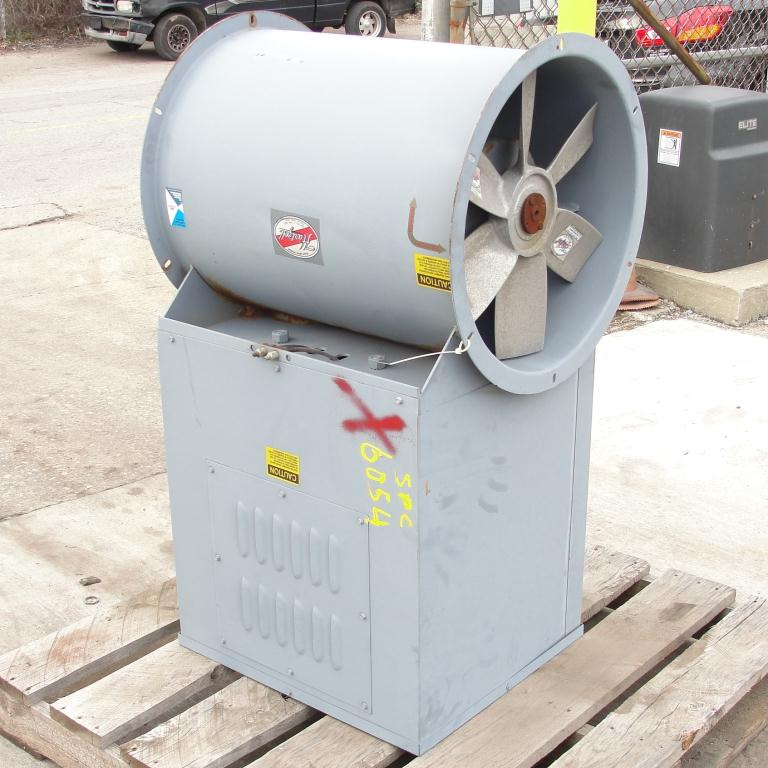 Blower 3810 cfm centrifugal fan Hartzell Fan Inc model 31-18-143, 1 hp, NA