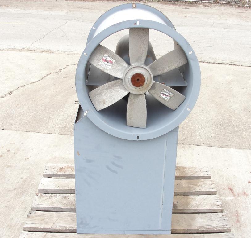 Blower 3810 cfm centrifugal fan Hartzell Fan Inc model 31-18-143, 1 hp, NA2