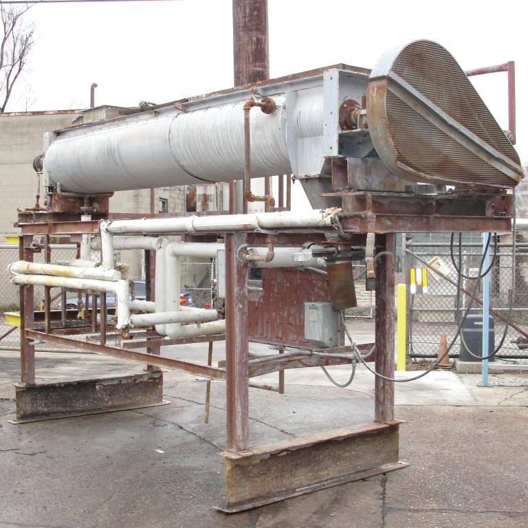Dryer Twin 12dia x 128 long, screw dryer, Stainless Steel1