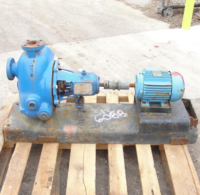 Pump 1.5 x 1.5 x 8 Dean Brothers Pumps Inc centrifugal pump, 2 hp, Cast Iron3