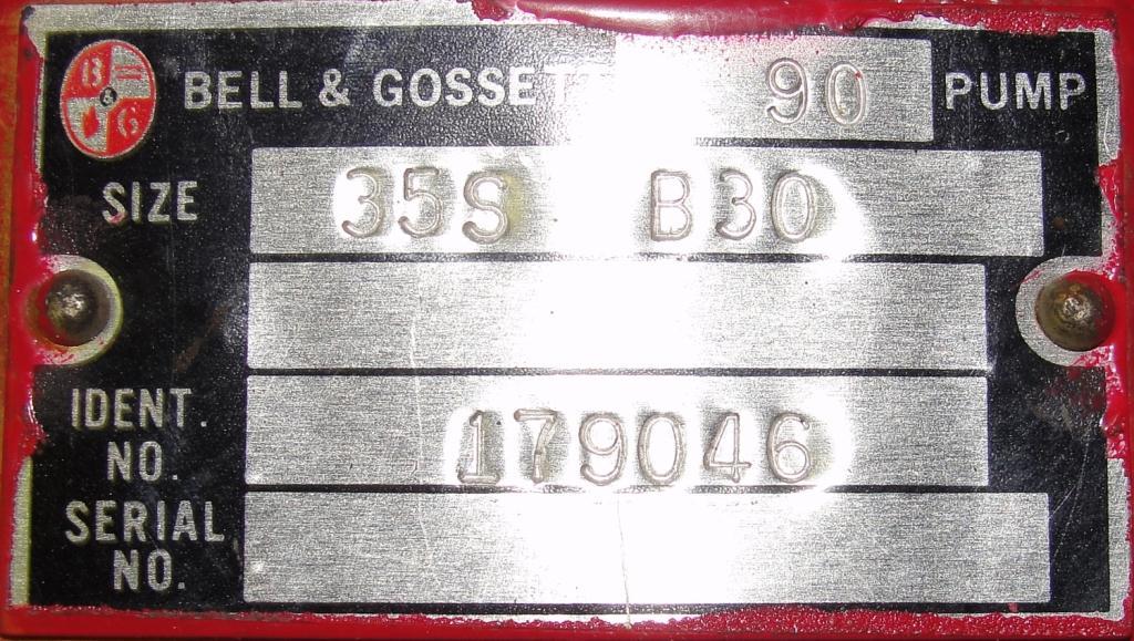 Pump Bell & Gossett centrifugal pump, .5 hp, Cast Iron4