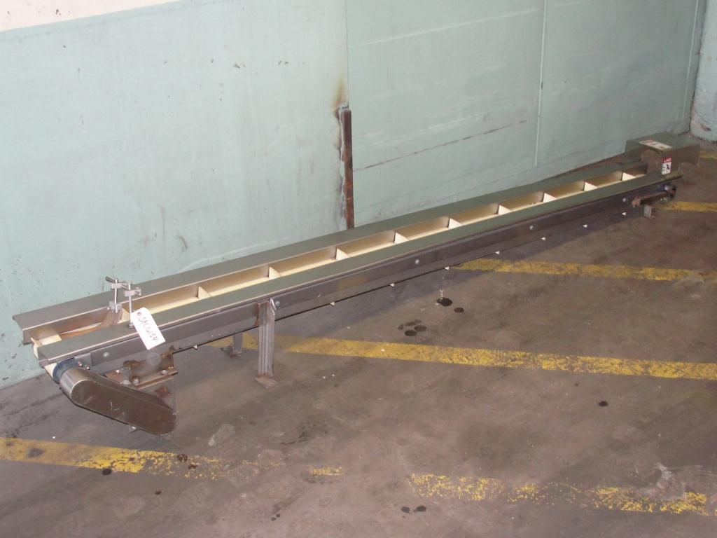 Conveyor belt conveyor Stainless Steel, 4 wide x 120 long2