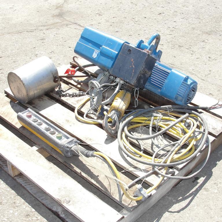 Material Handling Equipment chain hoist, 2000 lbs. Demag 13 long chain2