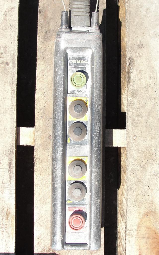Material Handling Equipment chain hoist, 2000 lbs. Demag 13 long chain6