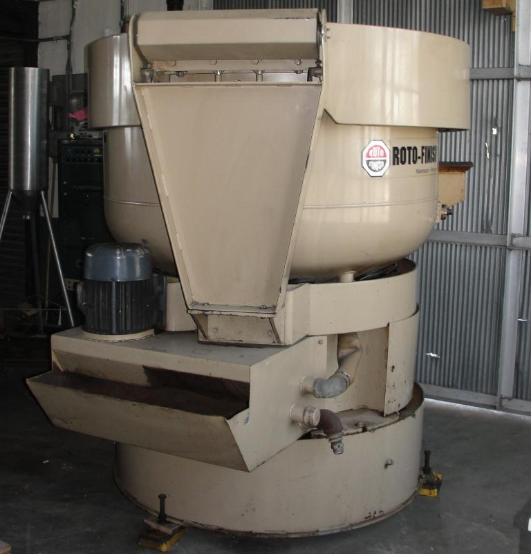 Machine Tool 10 cu ft capacity Roto-Finish model ER-1011C-94-E1 vibratory finishing mill, 60 diameter, 7.5 hp2