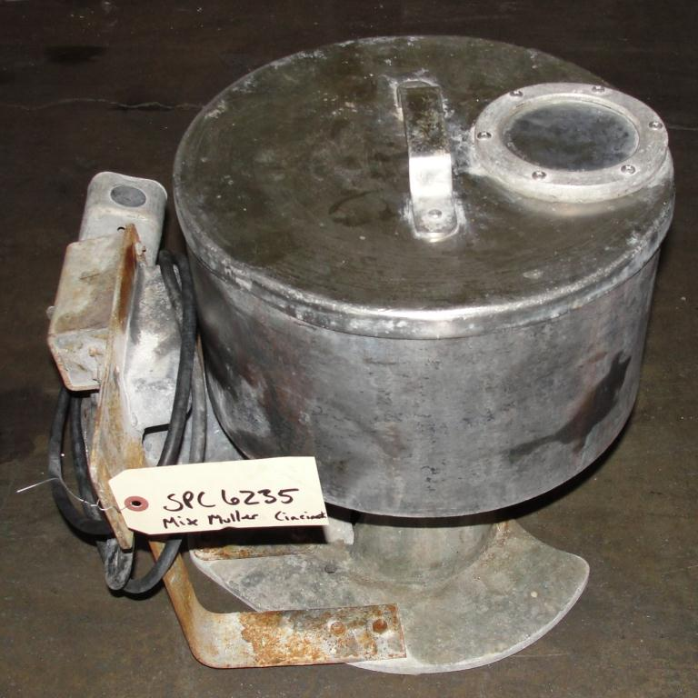 Mill 12 diameter bowl Cincinnati Muller Co mix muller5
