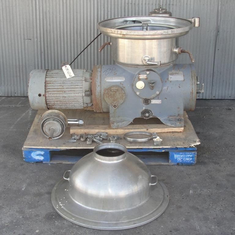 Centrifuge 20 hp Westfalia auto disk centrifuge model SA-20-06-076, 6500 bowl rpm, Stainless Steel3