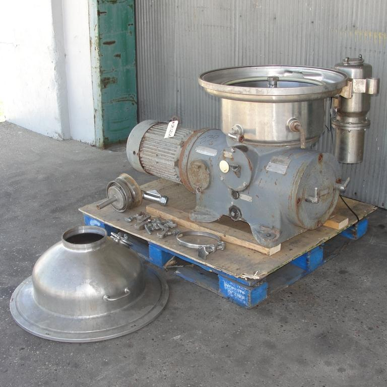 Centrifuge 20 hp Westfalia auto disk centrifuge model SA-20-06-076, 6500 bowl rpm, Stainless Steel4