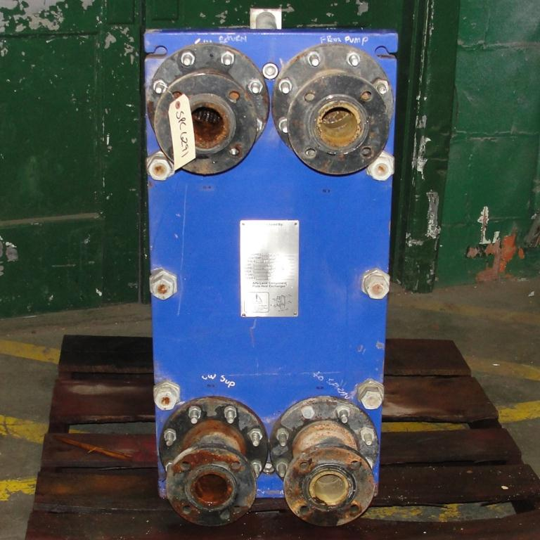 Heat Exchanger 40.26 sq.ft. Alfa Laval plate heat exchanger, Stainless Steel Contact Parts2