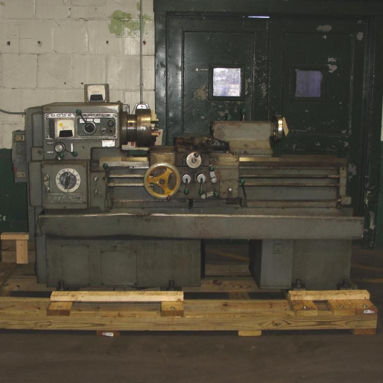 Machine Tool Lodge & Shipley model AVS 1408 metal lathe, 14.5 swing, 30 centers, 3 jaw chuck1