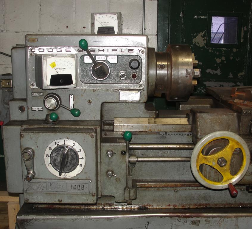 Machine Tool Lodge & Shipley model AVS 1408 metal lathe, 14.5 swing, 30 centers, 3 jaw chuck5