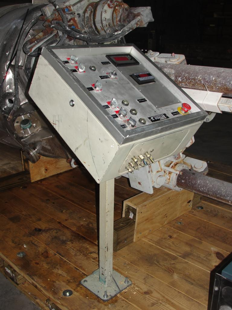 Mixer and Blender 400 gallon capacity Buhler vacuum mixer scrape and dispersion agitator, FV and 3 psi @ 250°F internal, 50 psi @ 250°F jacket8