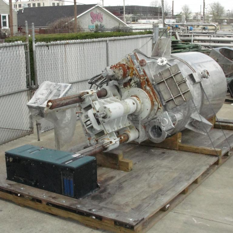 Mixer and Blender 400 gallon capacity Buhler vacuum mixer scrape and dispersion agitator, FV and 3 psi @ 250°F internal, 50 psi @ 250°F jacket13
