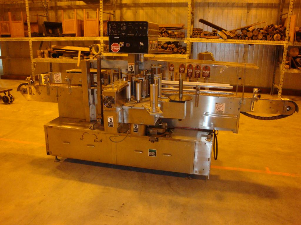 Labeler New Jersey pressure sensitive labeler model 311, front & back, 1