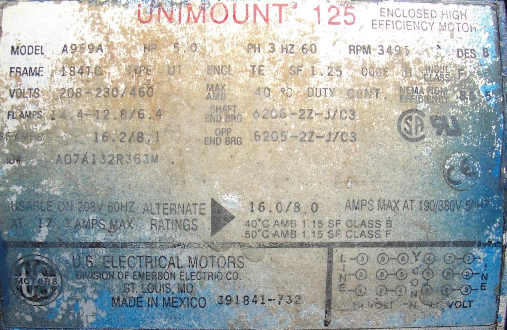 Pump centrifugal pump, 5 hp, CS5