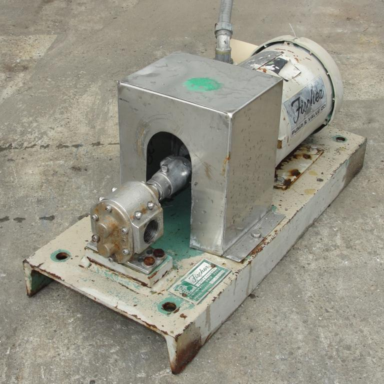 Pump 1 inlet Fischer positive displacement pump 1 hp, Stainless Steel1