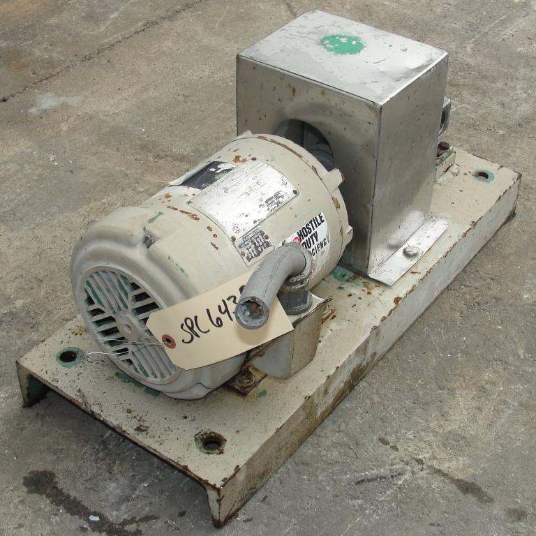 Pump 1 inlet Fischer positive displacement pump 1 hp, Stainless Steel4