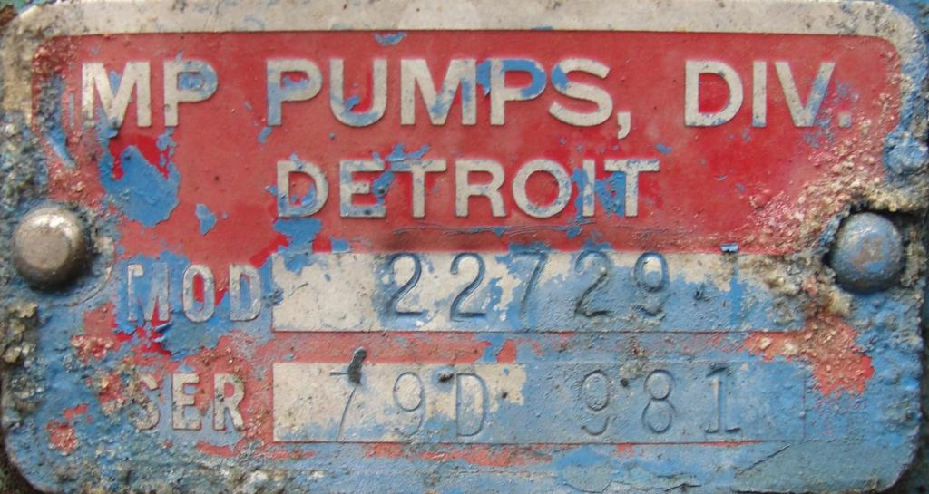 Pump 2.5x2x4.5 MP Pumps centrifugal pump, 7.5 hp, Cast Iron5