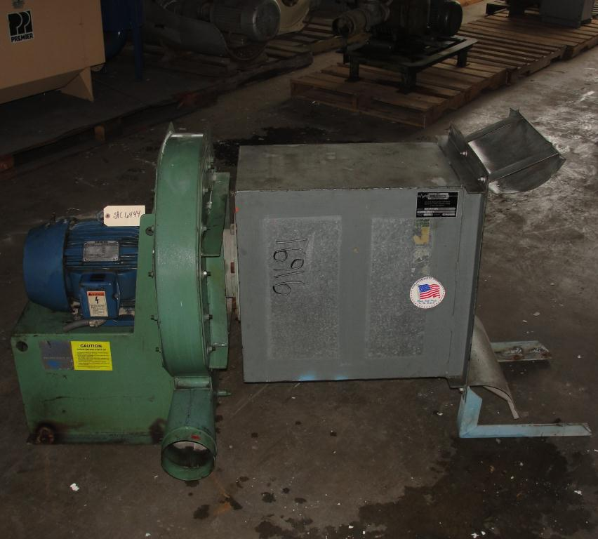 Blower 1800 cfm centrifugal fan American Fan Co model VP-3-08S-19A, 10 hp, CS2