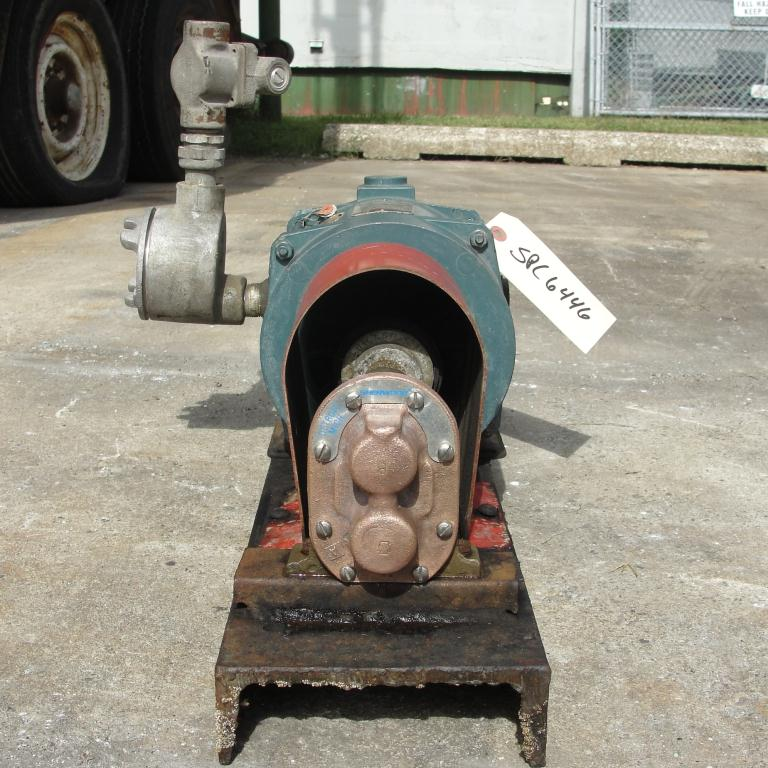 Pump 3/4 inlet Sherwood positive displacement pump .5 hp, Bronze2