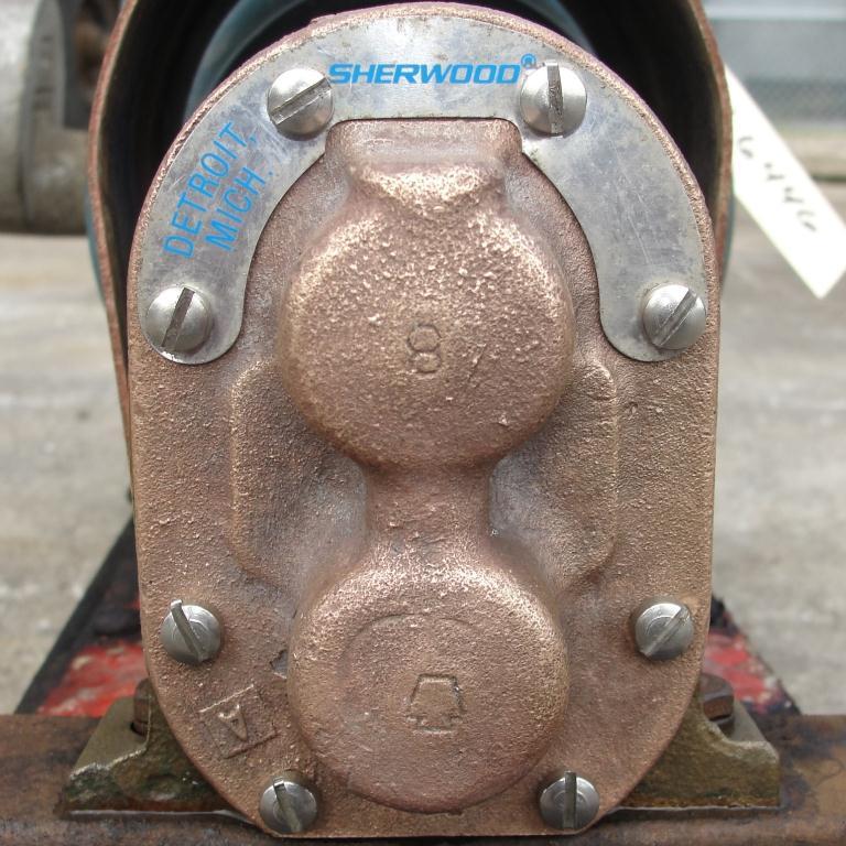 Pump 3/4 inlet Sherwood positive displacement pump .5 hp, Bronze3