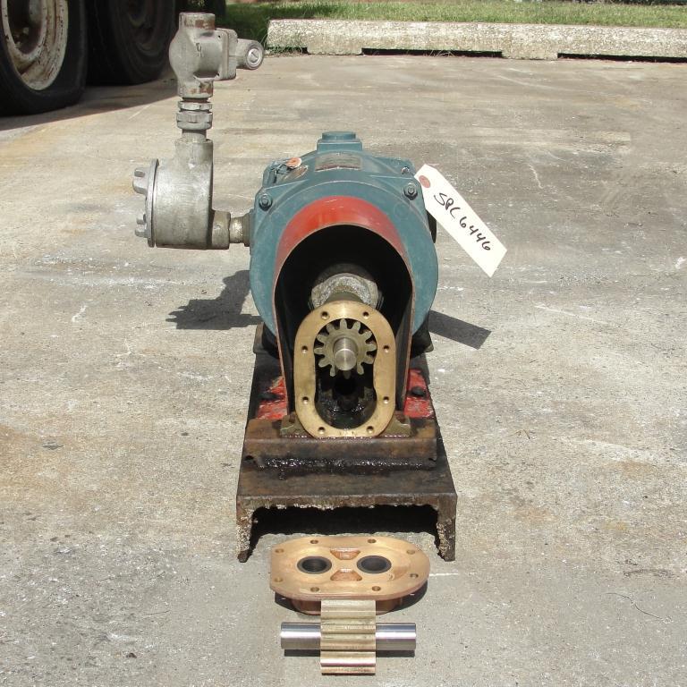 Pump 3/4 inlet Sherwood positive displacement pump .5 hp, Bronze4