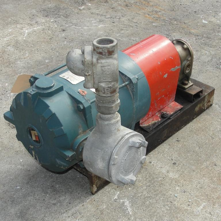 Pump 3/4 inlet Sherwood positive displacement pump .5 hp, Bronze6