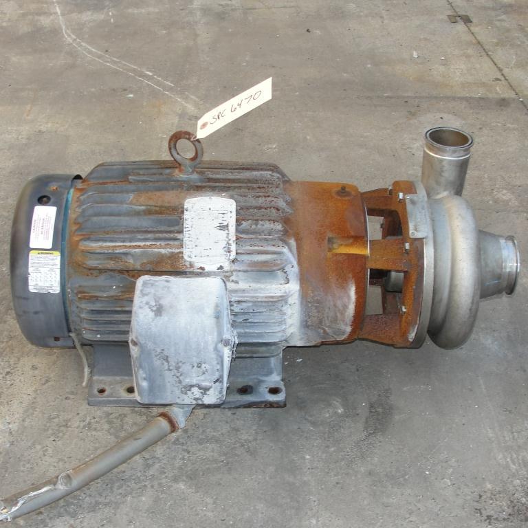 Pump 3x2.5x6.5 AMPCO centrifugal pump, 20 hp, 316 SS4