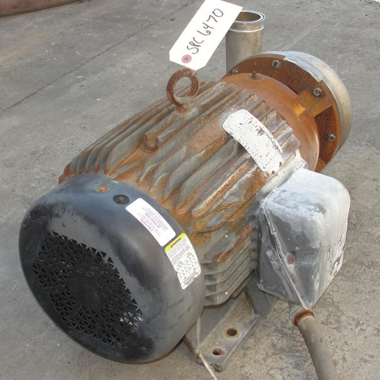 Pump 3x2.5x6.5 AMPCO centrifugal pump, 20 hp, 316 SS5