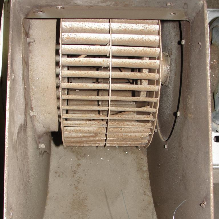 Blower 1915 cfm centrifugal fan New York Blower Co size 90 model Junior Fan, 1.5 hp, Aluminum3