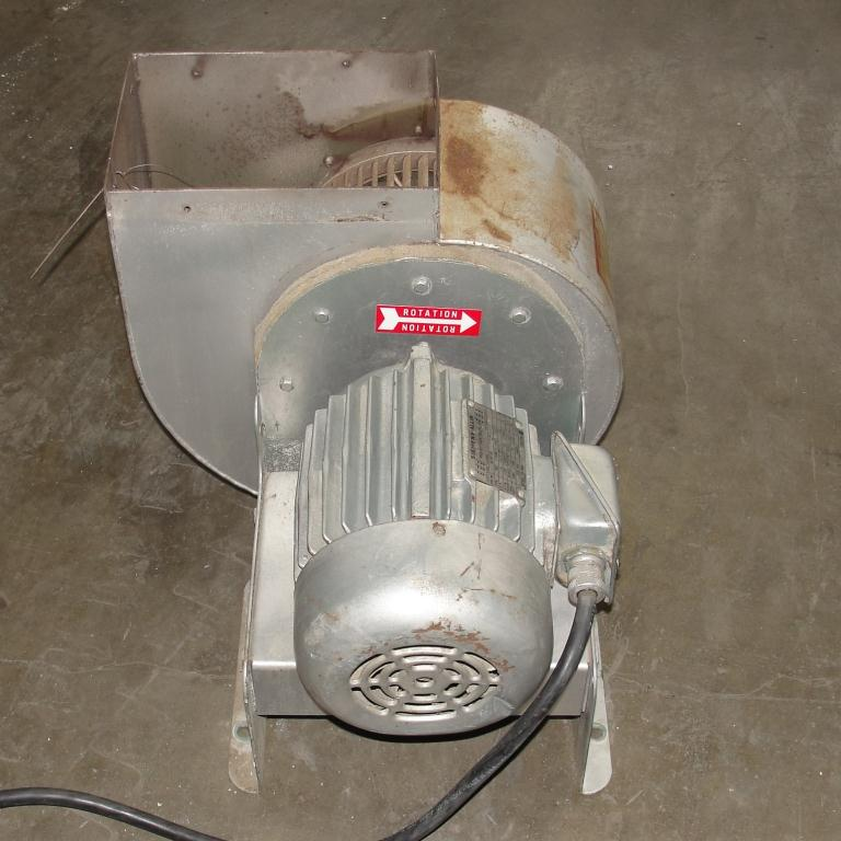 Blower 1915 cfm centrifugal fan New York Blower Co size 90 model Junior Fan, 1.5 hp, Aluminum5