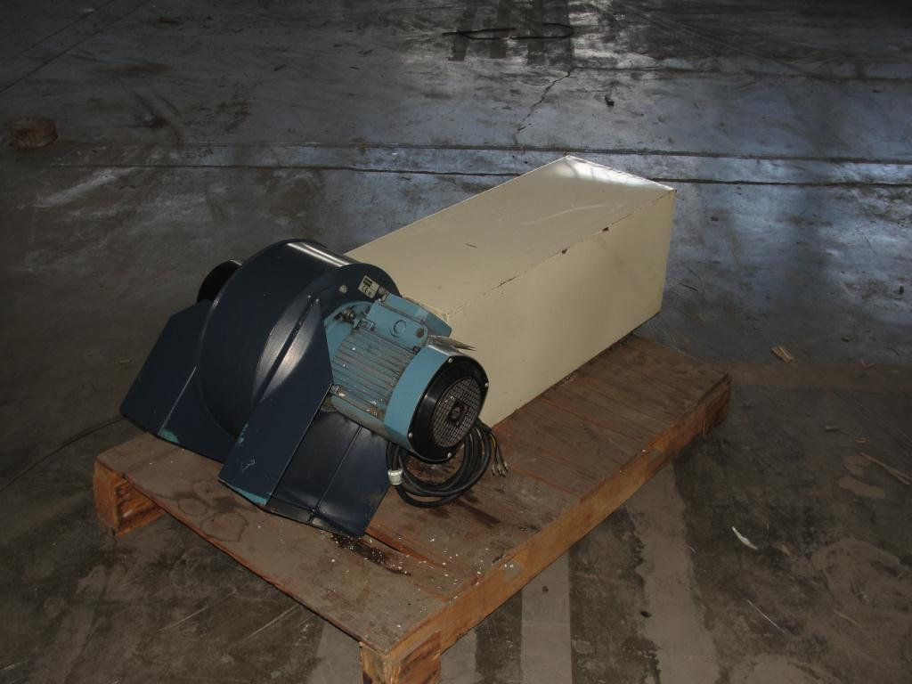 Blower 1889 cfm centrifugal fan Sodeca model CMP-1128-2T-5'5, 5.5 hp, CS4