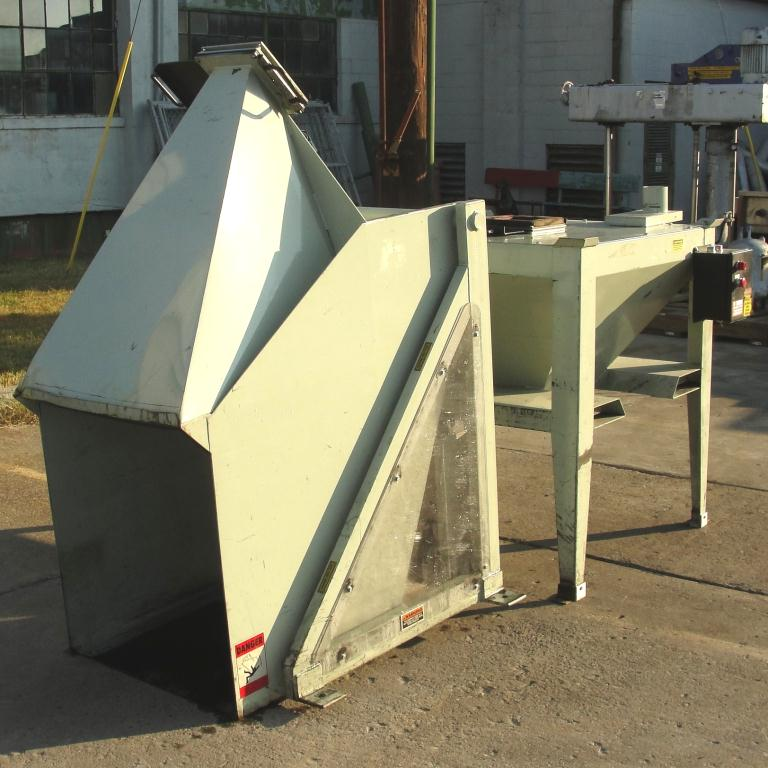 Material Handling Equipment tote dumper, 2500 lbs. IMCS Inc. model J19247, 25 w x 30 l x 33 t2