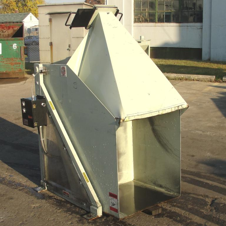 Material Handling Equipment tote dumper, 2500 lbs. IMCS Inc. model J19247, 25 w x 30 l x 33 t4
