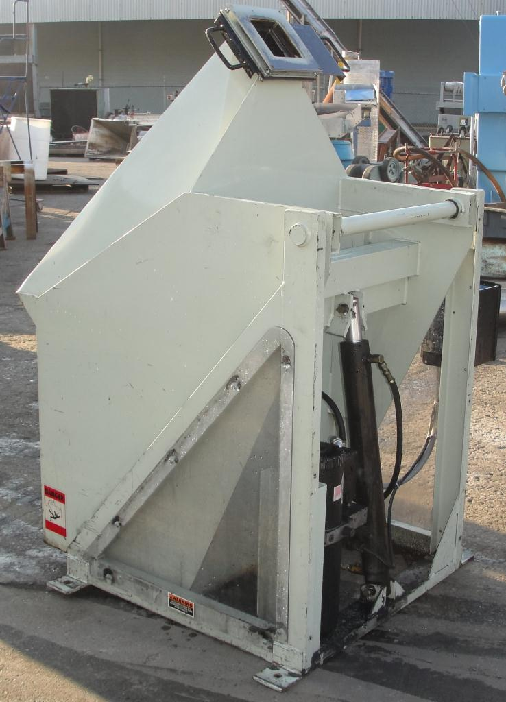 Material Handling Equipment tote dumper, 2500 lbs. IMCS Inc. model J19247, 25 w x 30 l x 33 t5